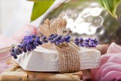 自然肥皂 免版税图库摄影