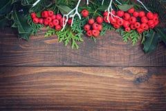 自然背景的圣诞节 库存照片