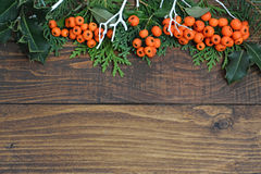 自然背景的圣诞节 免版税库存图片