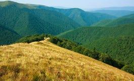 自然背景,山脉的看法 免版税库存图片
