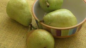 自然背景水多的美味梨  股票视频