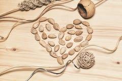 自然艺术对象装饰背景由竹子,木头,藤茎制成 免版税库存照片