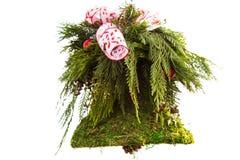 自然花卉圣诞节铃声 免版税库存图片