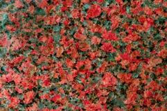 自然花岗岩纹理与红色的飞溅 E 了不起的设计为任何使用 免版税库存照片