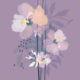 自然花蓝色花束 免版税库存照片
