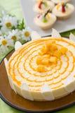 自然蛋糕干酪可口果子 库存照片