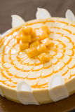 自然蛋糕干酪可口果子 免版税库存照片