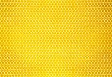 自然蜂蜜梳子背景或纹理 库存照片
