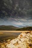 自然谷盐水湖 库存图片