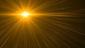 自然透镜火光 透镜在黑背景的火光光 容易增加覆盖物或网式滤油器在录影 日出和火光 股票录像