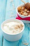 自然酸奶 免版税库存照片