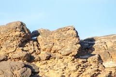自然重的岩石和砖贴墙纸Mountaineous地区和 免版税库存图片
