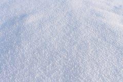 自然雪背景在冬天 库存照片