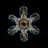 自然雪花的水晶 免版税库存图片