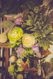 自然颜色美丽,豪华婚礼装饰,花, 免版税库存照片