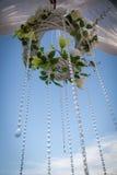 自然颜色美丽,豪华婚礼装饰,花, 库存图片