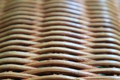 自然颜色藤条家具的纹理和样式,关闭与选择聚焦 库存图片
