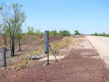 沙漠。 澳洲。 测量的水平面。 库存照片