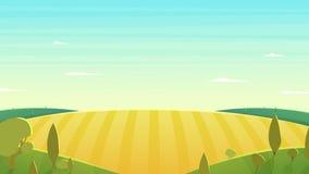 自然风景动画片传染媒介例证 免版税图库摄影