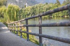 自然风景和木篱芭 库存照片