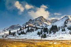 自然风景落矶山脉中亚 图库摄影