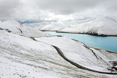 自然风景雪西藏 免版税库存图片