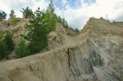 自然风景,山的倾斜 库存图片