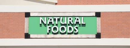 自然食物市场标志 免版税库存照片