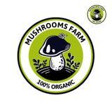 自然食物edibles蘑菇的图表商标  库存例证