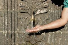 自然饮用水喷泉的历史 免版税库存图片