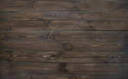 自然黑暗的木头,木棕色平的板纹理  库存照片