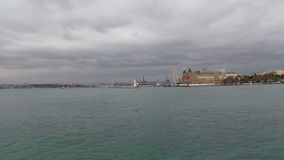 自然,伊斯坦布尔市,土耳其12月2016年, 股票视频