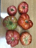 自然,健康和红色蕃茄在桌上 马略卡 库存图片