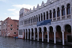 自然,威尼斯,意大利大运河和博物馆  库存照片
