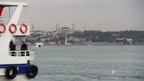 自然,海,伊斯坦布尔城市,土耳其12月2016年, 股票视频