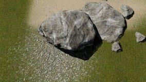 自然 冰砾和石头Kopozicija  免版税库存图片