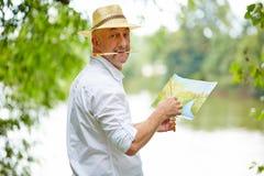 自然绘画图片的画家在夏天 免版税库存图片