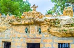 自然洞教会 库存图片