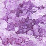 自然紫晶背景  免版税库存图片