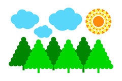 自然 森林天空和云彩 库存图片