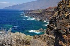 自然水池查科Los Sargos,耶罗岛,金丝雀,西班牙 免版税库存照片