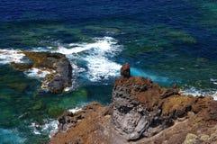 自然水池查科Los Sargos,耶罗岛,金丝雀,西班牙 库存图片