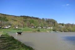 自然水池Raztoka在捷克,欧洲 免版税库存照片