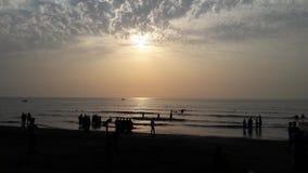 自然水海滩 免版税库存图片