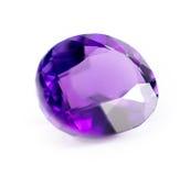 自然紫色紫色的宝石特写镜头  免版税库存照片