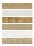自然6副横幅的织品 库存图片