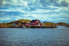 自然Lofoten在北挪威 库存照片