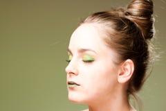 自然skincare秀丽,干净的软的皮肤,修指甲 免版税库存照片