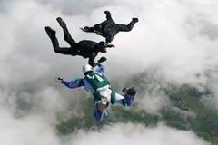 自由下落跳伞运动员三 库存照片
