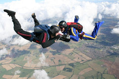 自由下落跳伞运动员二 库存图片